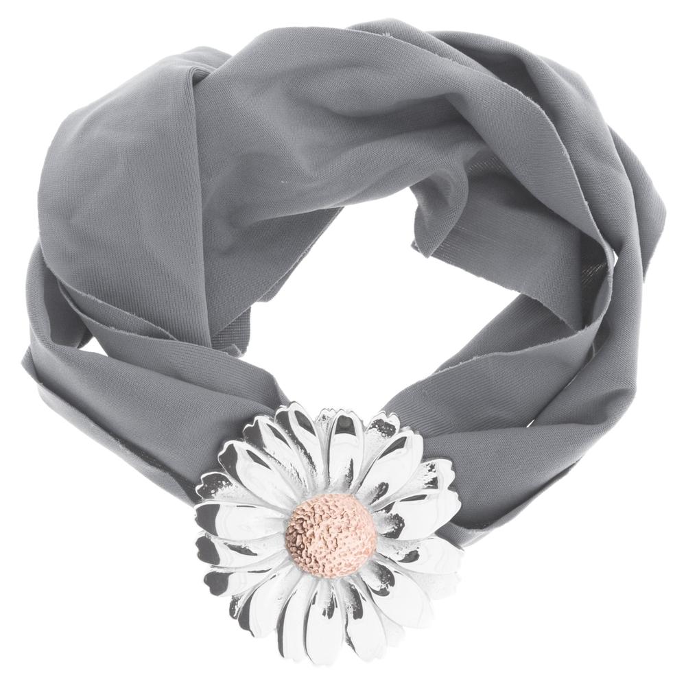blumenkind · Damen-Stoffarmband mit Blüte Edelstahl · stahl-silber BMBS01M – Bild 6