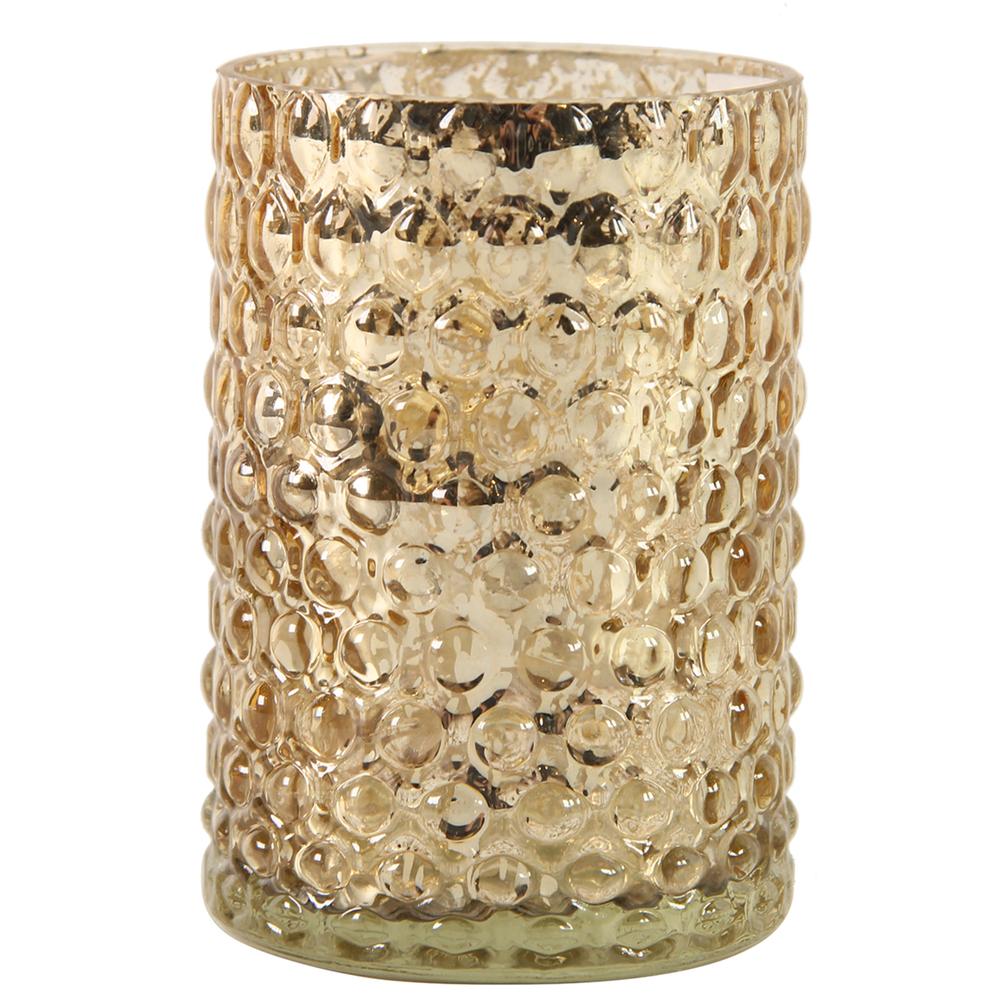Countryfield · Teelichthalter aus Glas ELMIRA · gold – Bild 1