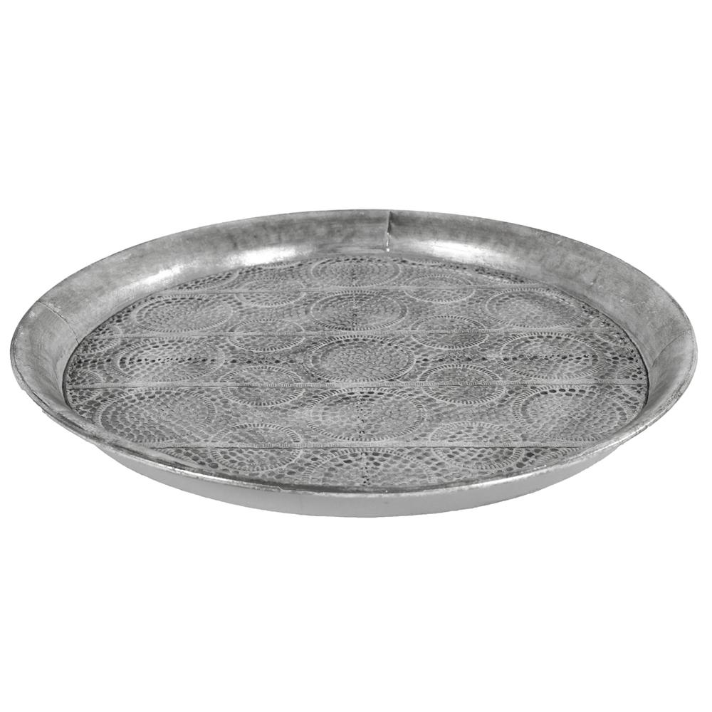 Countryfield · Metall-Tablett Serviertablett LORAINE M 40cm · antik-silber