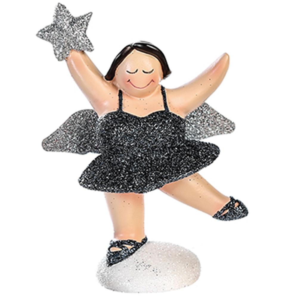 Casablanca Zierschmuck-Figur Engel Betty 10cm graphitgrau silber – Bild 2