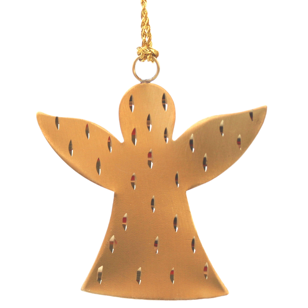 AM-Design · Christbaum-Anhänger Metall-Engel 7cm · gold