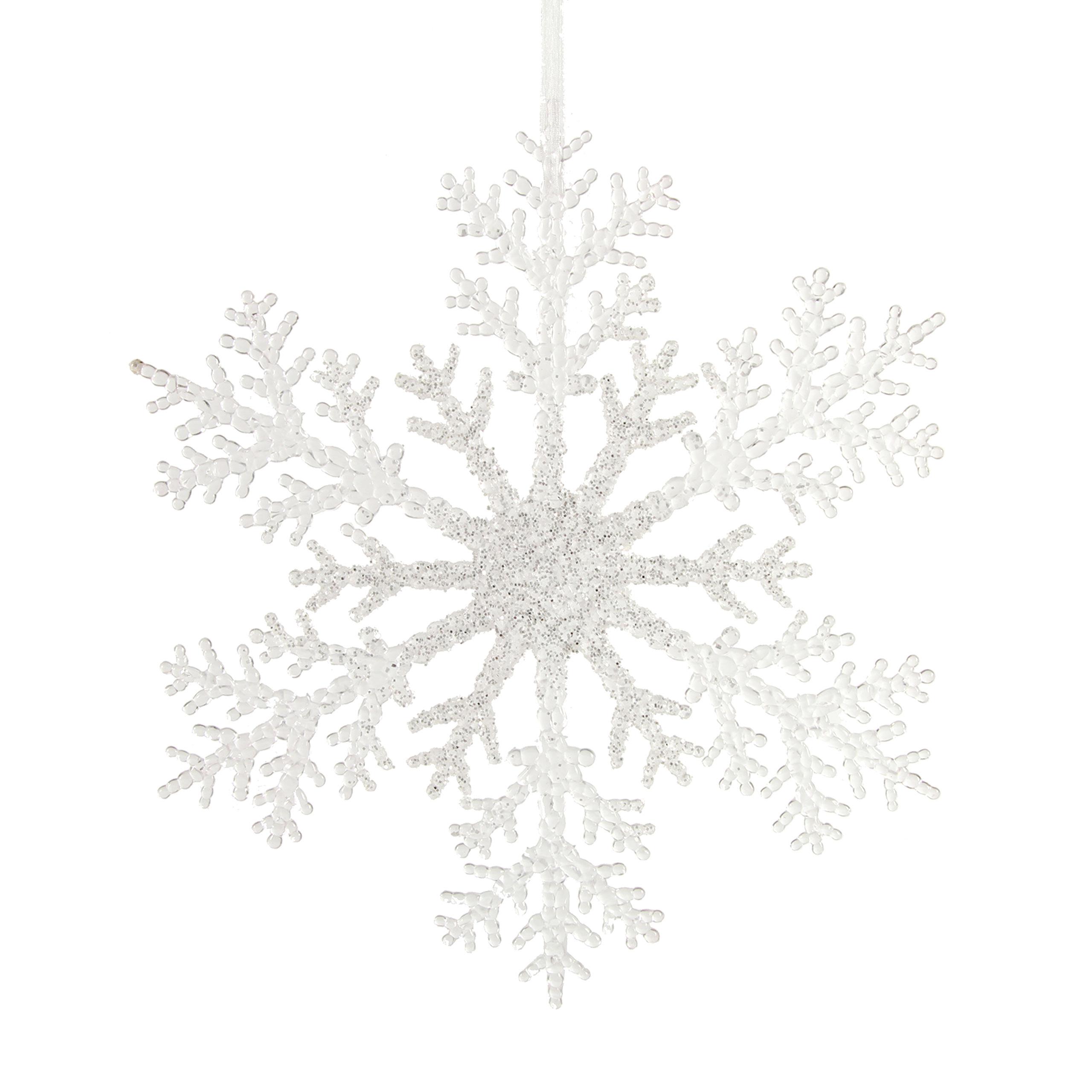 Countryfield Weihnachtshanger Schneeflocke Attkins Creme Weiss