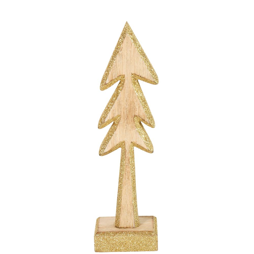 Countryfield · Weihnachtsdeko Aufsteller Holz Baum MONTSE · gold natur – Bild 3