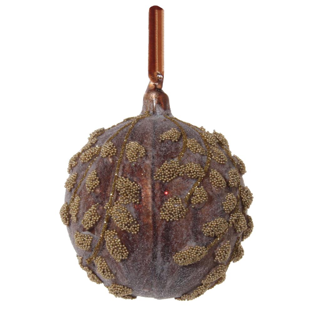 SHISHI · Christbaumkugel Blätter gezucker · bordeaux gold – Bild 1