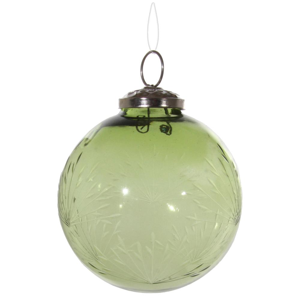SHISHI · Christbaumkugel mit Schliff  9cm · grün