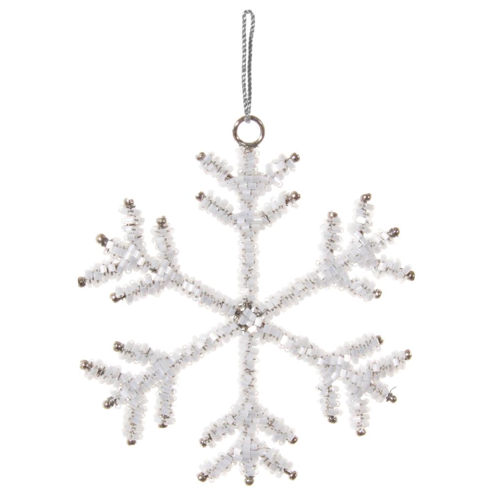 SHISHI · Christbaum-Anhänger Schneeflocke 10cm · weiß