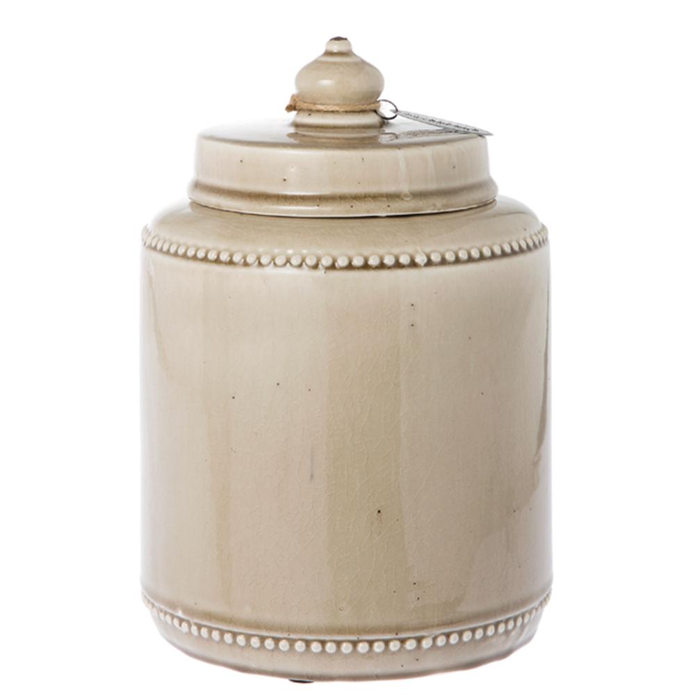 Riverdale · Keramik Topf mit Deckel Saintes 28cm · beige