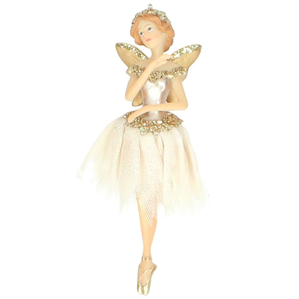 KERSTEN Christbaum-Anhänger Ballerina-Elfe 16cm rosa gold  – Bild 5