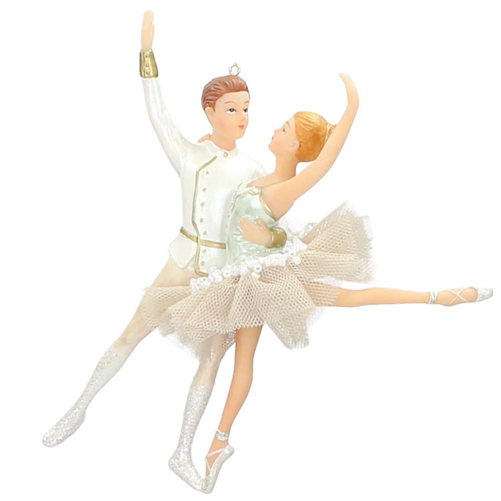 KERSTEN Christbaum-Anhänger Ballett-Paar 17.5cm weiß champagner mint – Bild 1