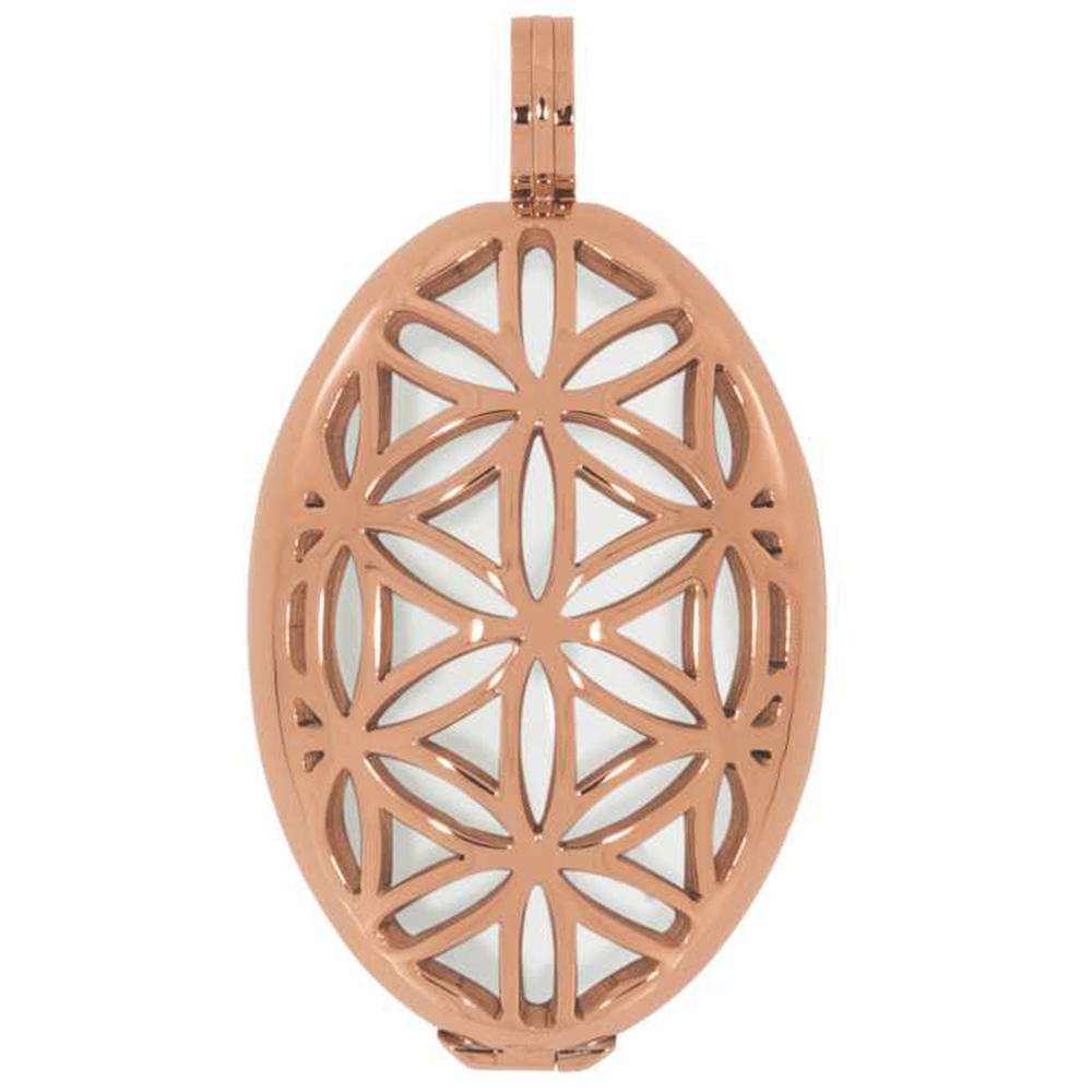 AURA · Damen-Amulett-Kettenanhänger Blume des Lebens M 3cm – Bild 3