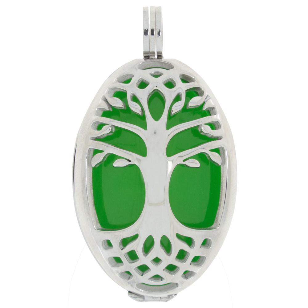 AURA · Damen-Amulett-Kettenanhänger Lebensbaum L 4cm – Bild 1