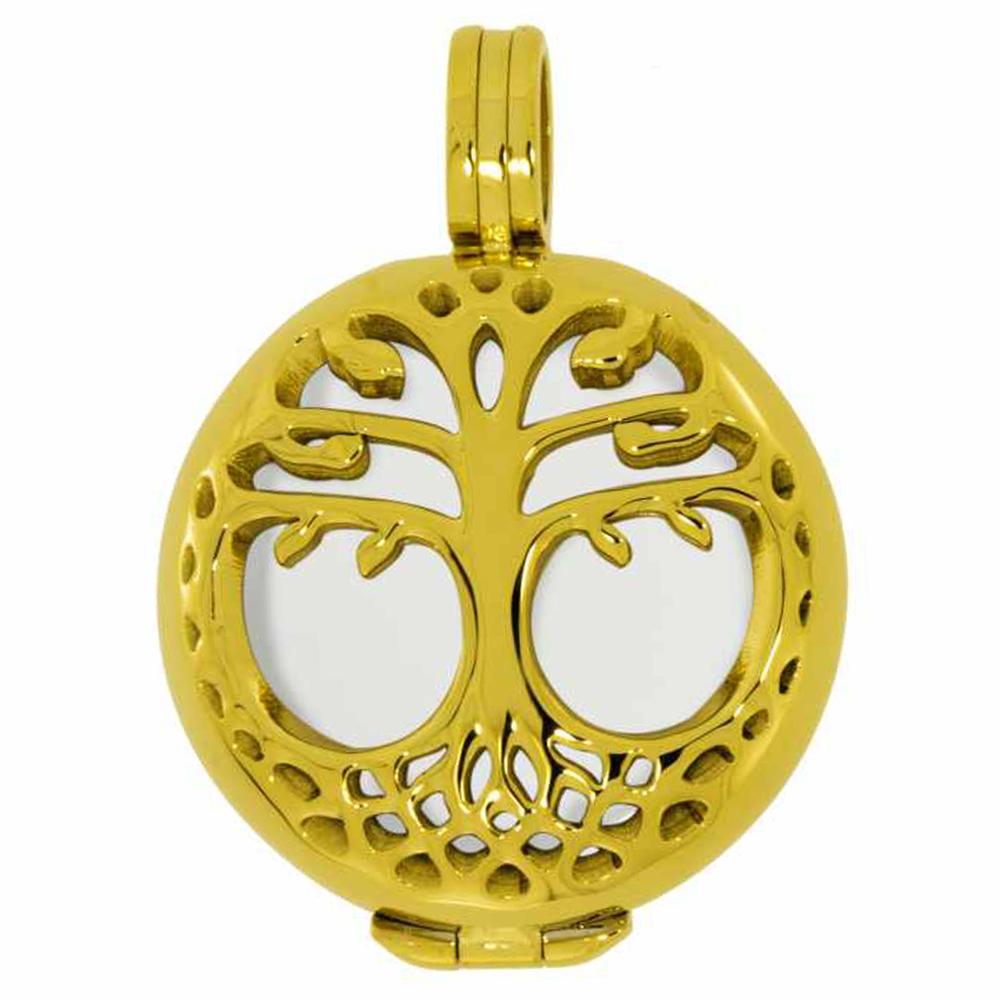 AURA · Damen-Amulett-Kettenanhänger Lebensbaum S 2cm – Bild 2