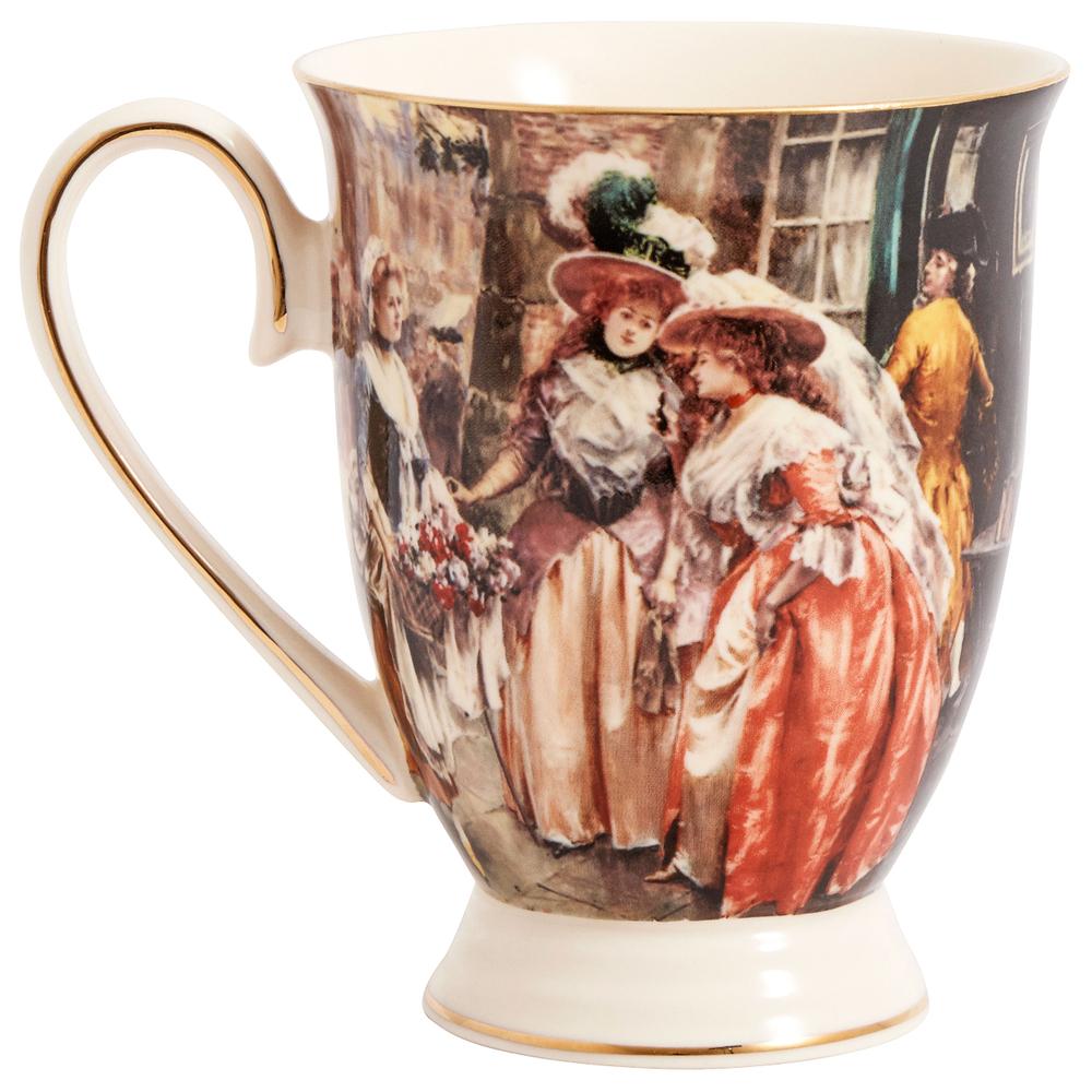 NORDAL Kaffeebecher VICTORIAN Keramik 12cm creme