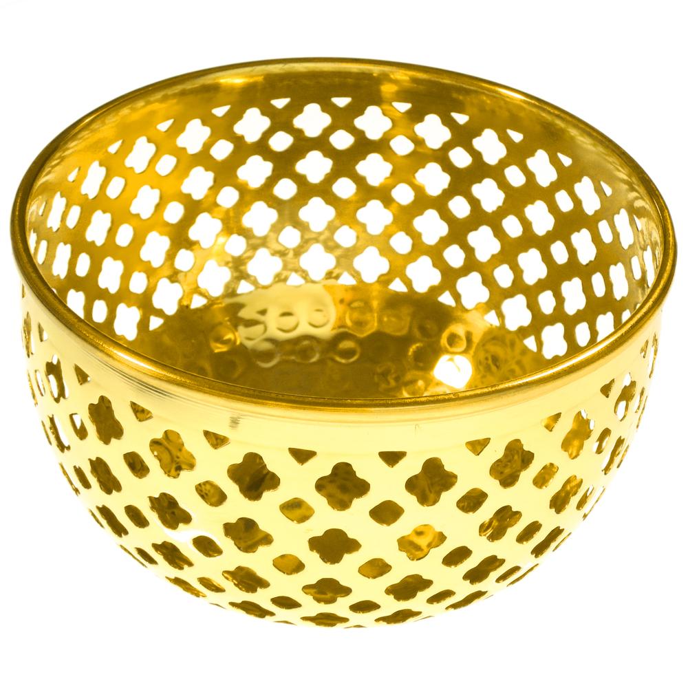 AM-Design Windlichthalter Gitter Messing 13cm gold – Bild 1