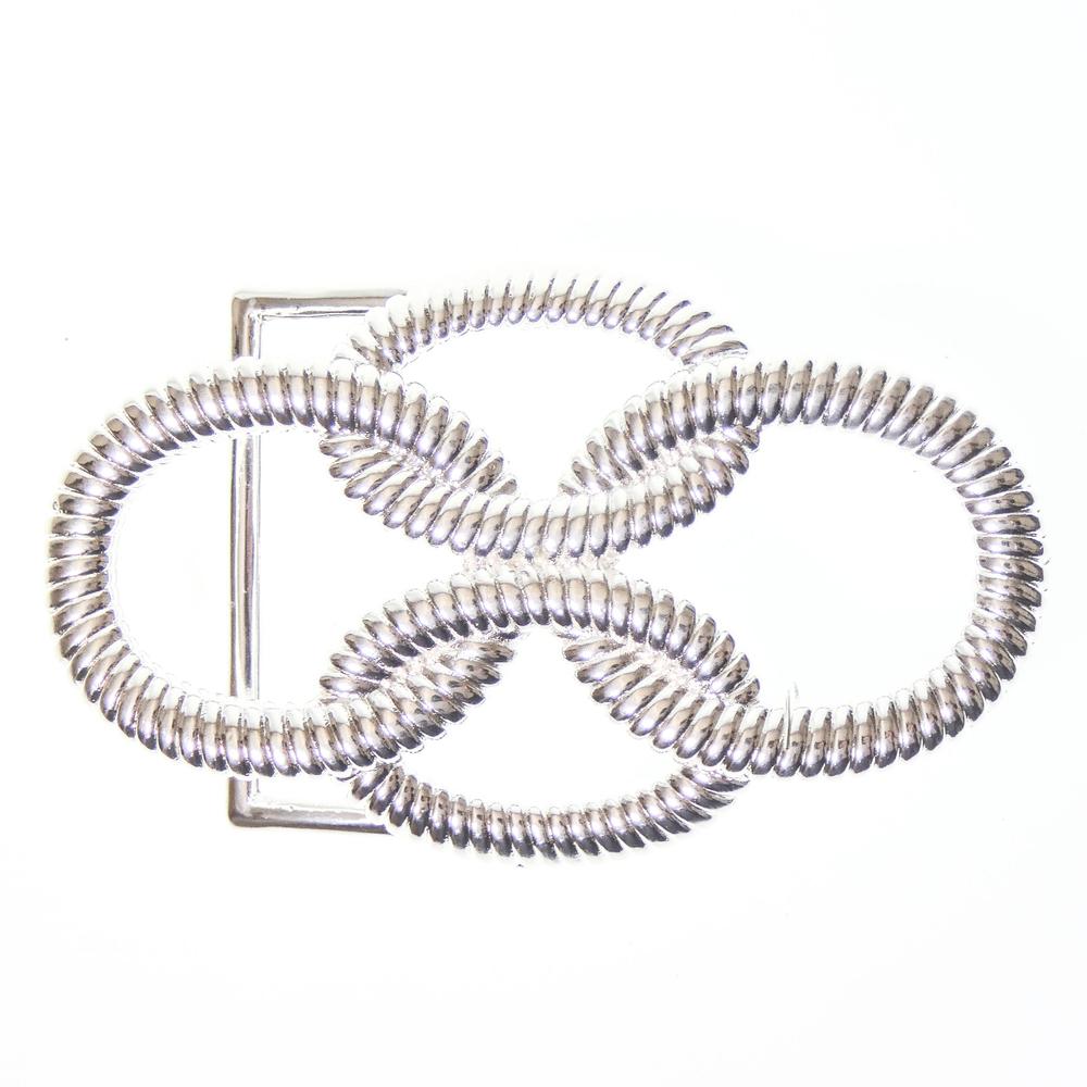 Luca Kayz Damen-Gürtelschnalle Wechselschließe Koppel KETTENOPTIK 4cm silber – Bild 3