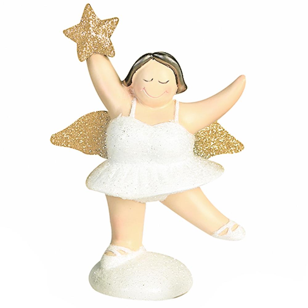 Casablanca Zierschmuck-Figur Engel Betty 10cm weiß gold – Bild 2