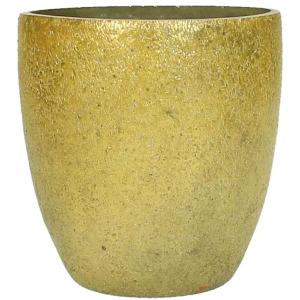 KERSTEN Windlichthalter Glas 11cm goldgelb