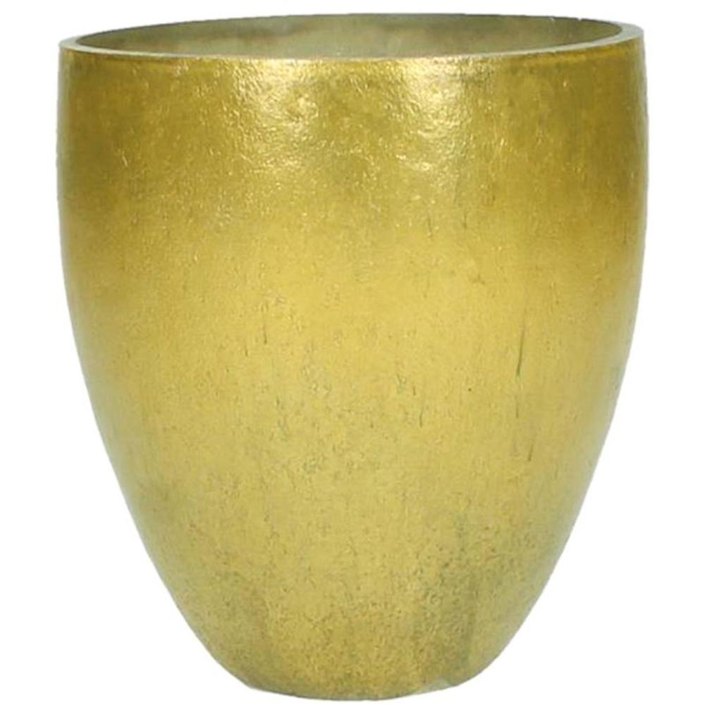 KERSTEN Windlichthalter Glas 13cm goldgelb