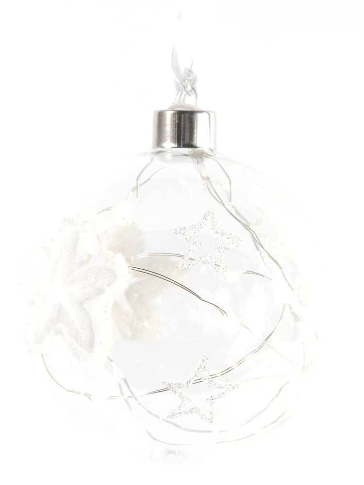 Countryfield LED-Christbaumkugel BELLE Sterne weiß transparent – Bild 1