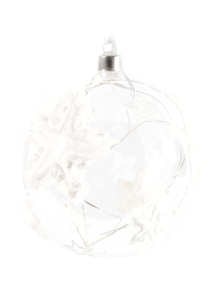 Countryfield LED-Christbaumkugel BELLE Sterne weiß transparent – Bild 3