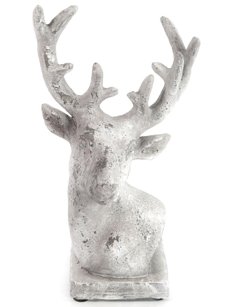 Countryfield Kopf-Skulptur DALAN Hirsch 22cm grau