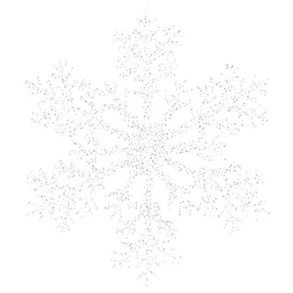 Countryfield Weihnachtshänger Schneeflocke JANELL XL Glitter 30cm silber transparent – Bild 1