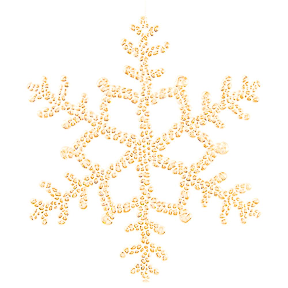 Countryfield Weihnachtshänger Schneeflocke JALIYAH XL 30cm gold – Bild 1