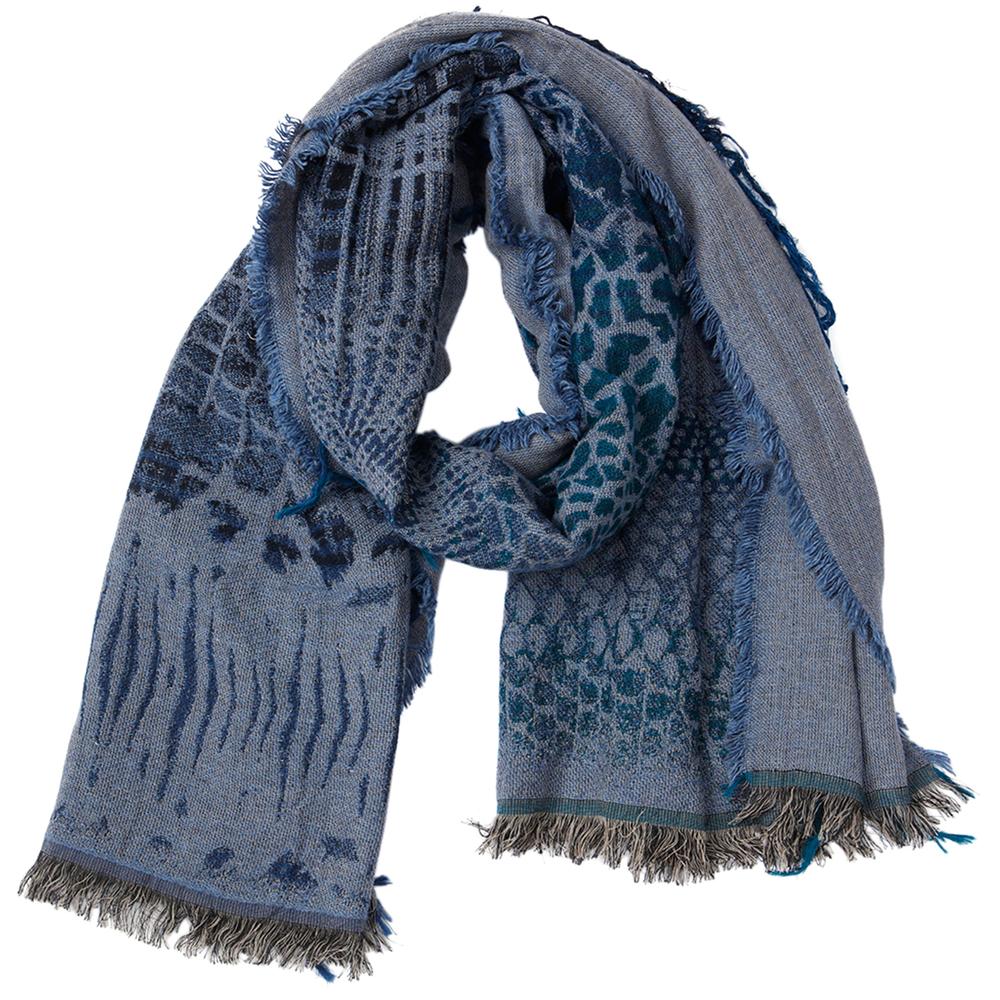 theMoshi Damen-Schal Eden 180cm dunkel-blau – Bild 1