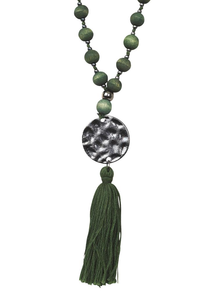 The Moshi Damen--Halskette Natalie Holz 60cm grün – Bild 1