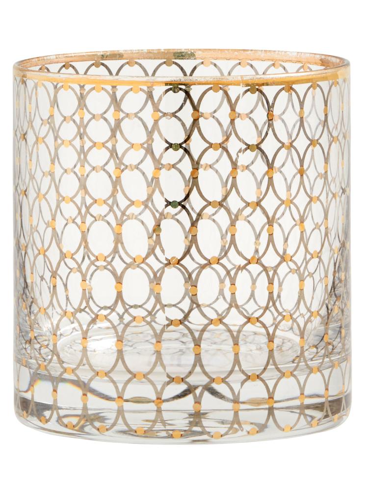 NORDAL Longdrinkglas 10cm gold