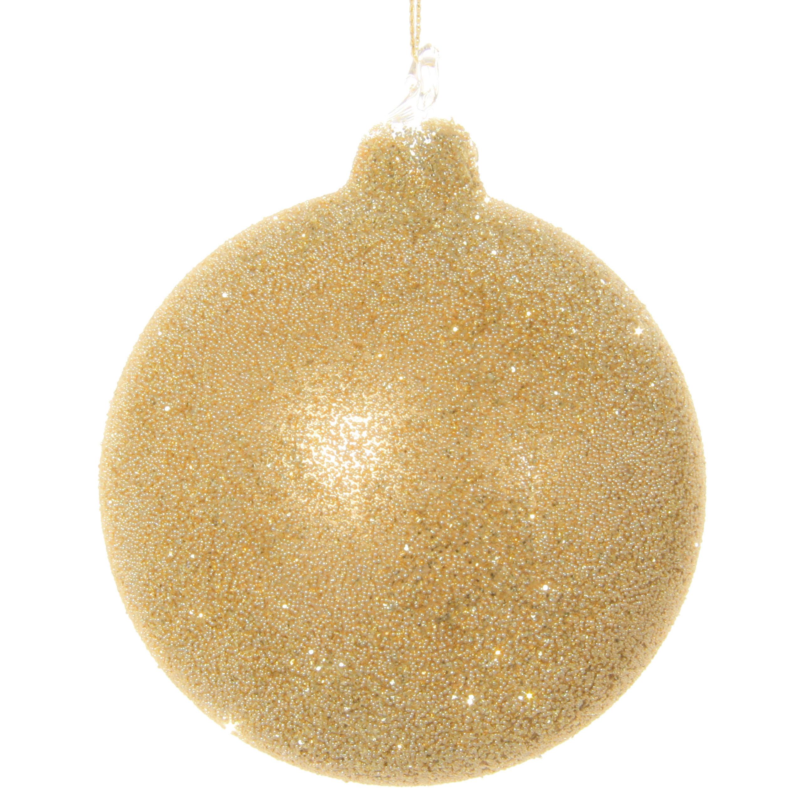 Shishi Christbaumkugel Glitter Perlen Kornig 8cm Gold Weihnachten