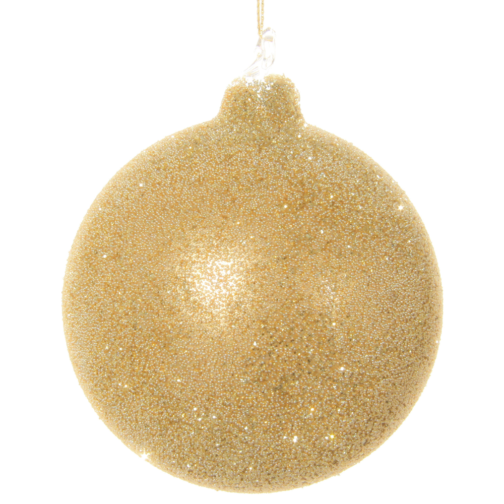 SHISHI Christbaumkugel Glitter Perlen körnig 8cm gold – Bild 1