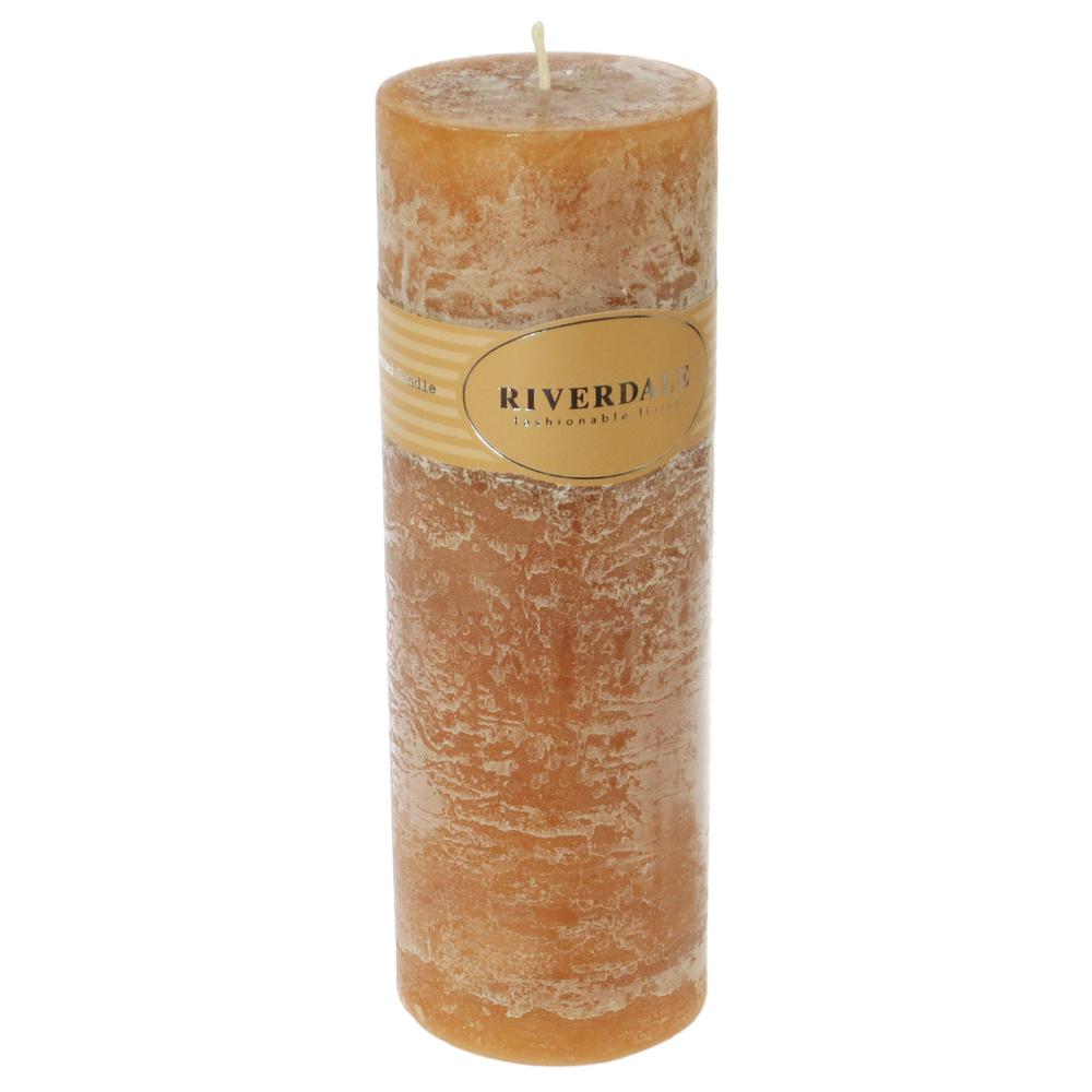 Riverdale Duftkerze Pillar Mandarin-Coriander kupfer – Bild 6
