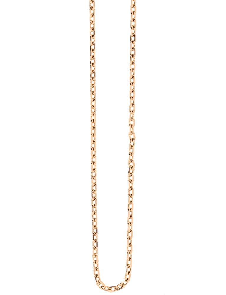 Traumfänger Damen-Halskette Gliederkette 1mm Roségold – Bild 1