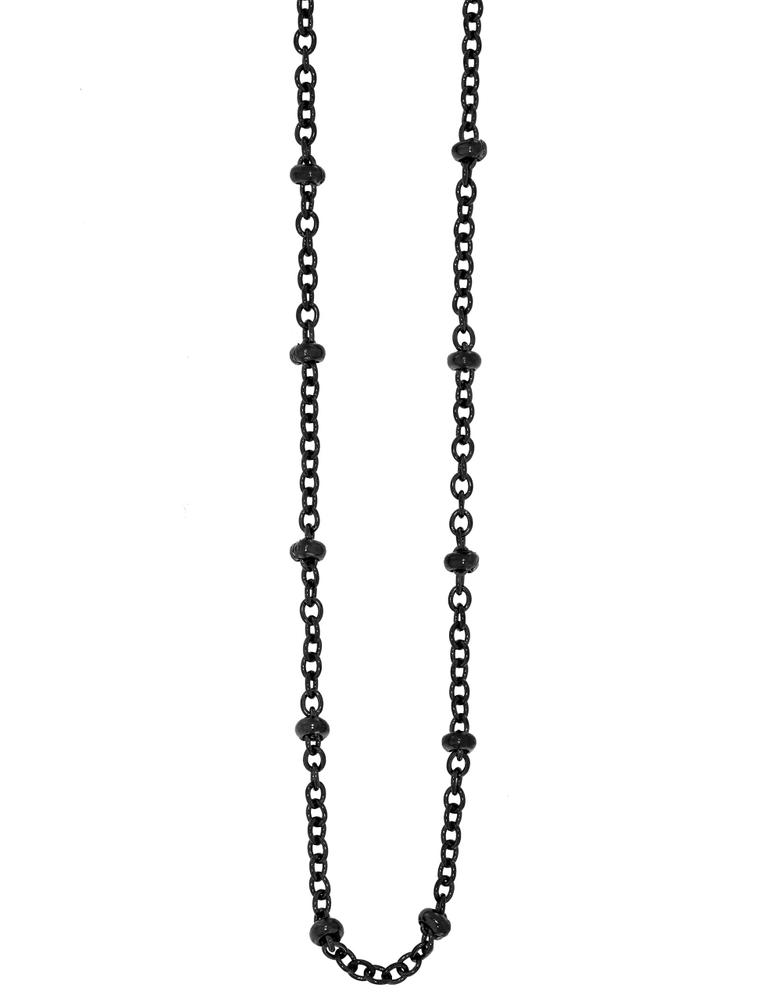 Traumfänger Damen-Halskette Glieder-Kugelkette 1mm Schwarz – Bild 1
