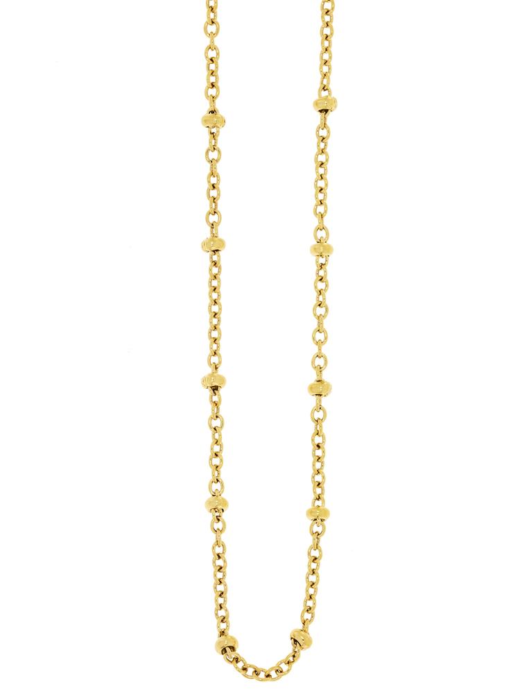 Traumfänger Damen-Halskette Glieder-Kugelkette 1mm Gold – Bild 1