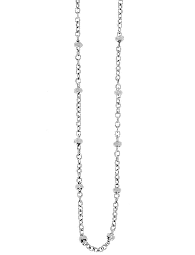 Traumfänger Damen-Halskette Glieder-Kugelkette 2mm Stahl-Silber – Bild 1