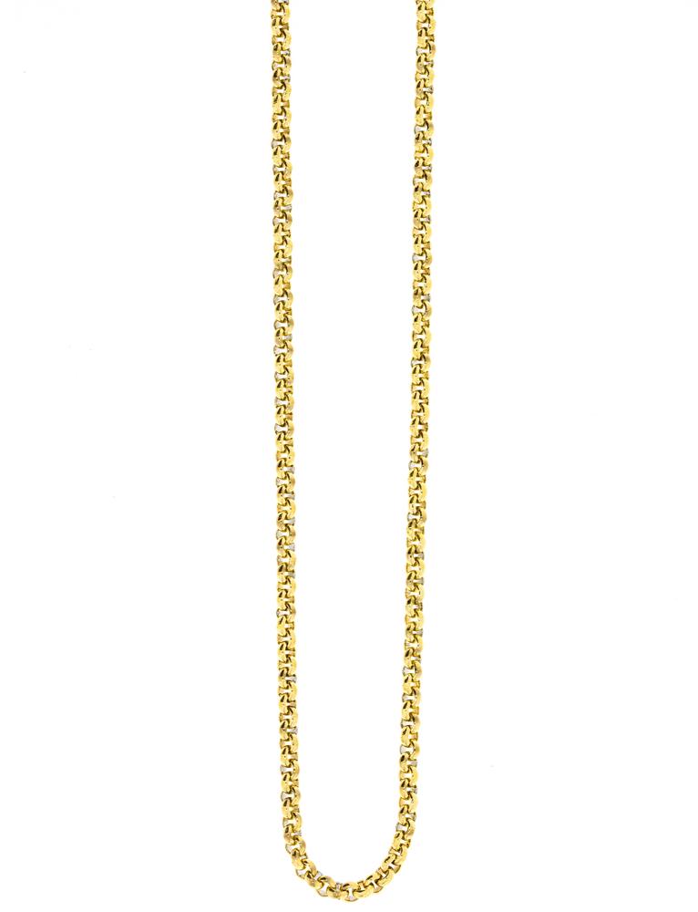 Traumfänger Damen-Halskette Gliederkette fein 2mm Gold – Bild 1