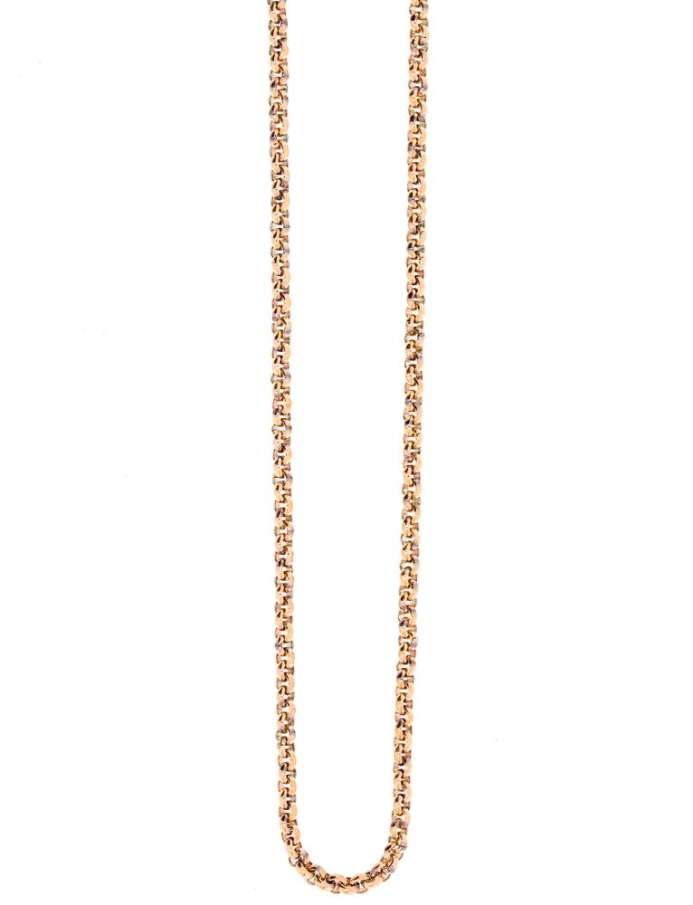Traumfänger Damen-Halskette Gliederkette fein 2mm Roségold – Bild 1