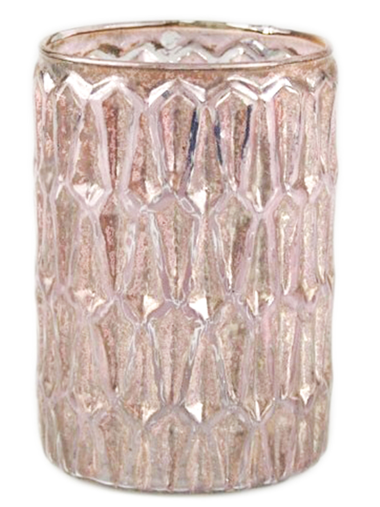 AM-Design Windlichtglas Antik-Rosa – Bild 1