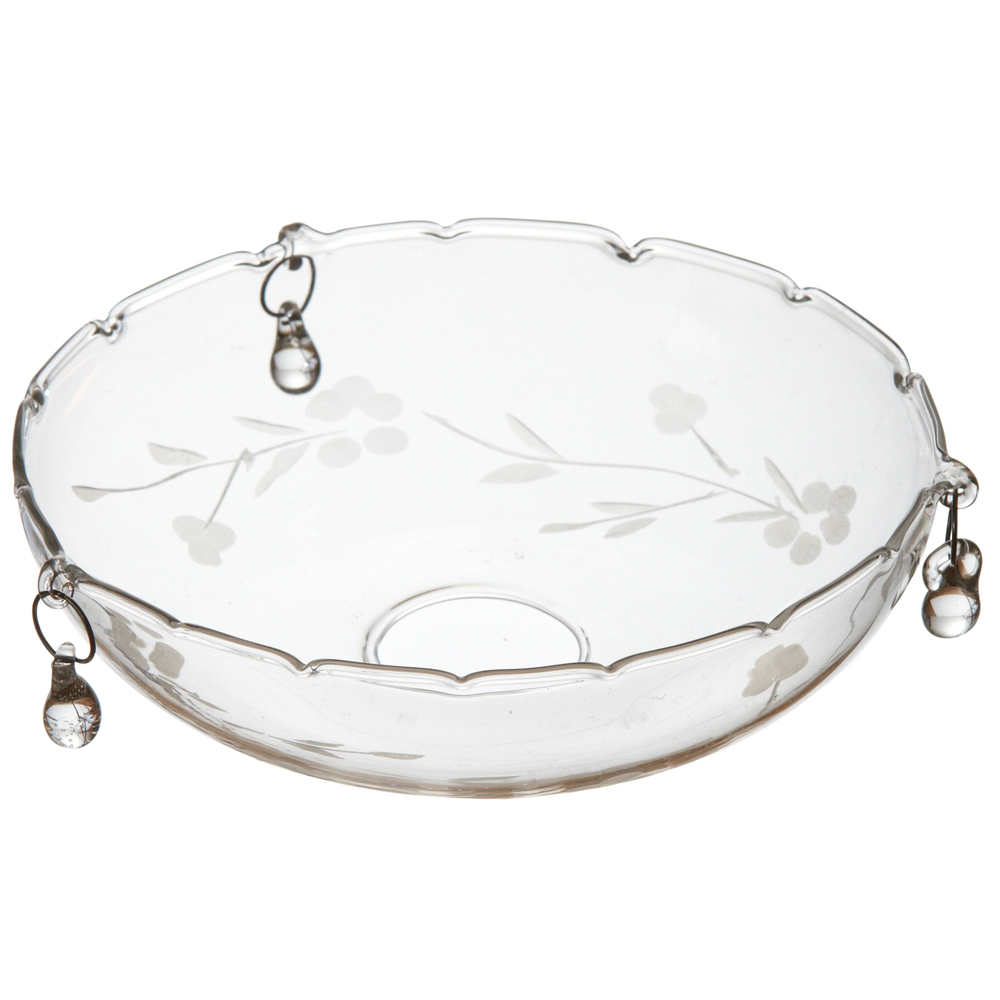 AFFARI Kerzenring TINGLE Tropfenfänger 11cm Transparent – Bild 1