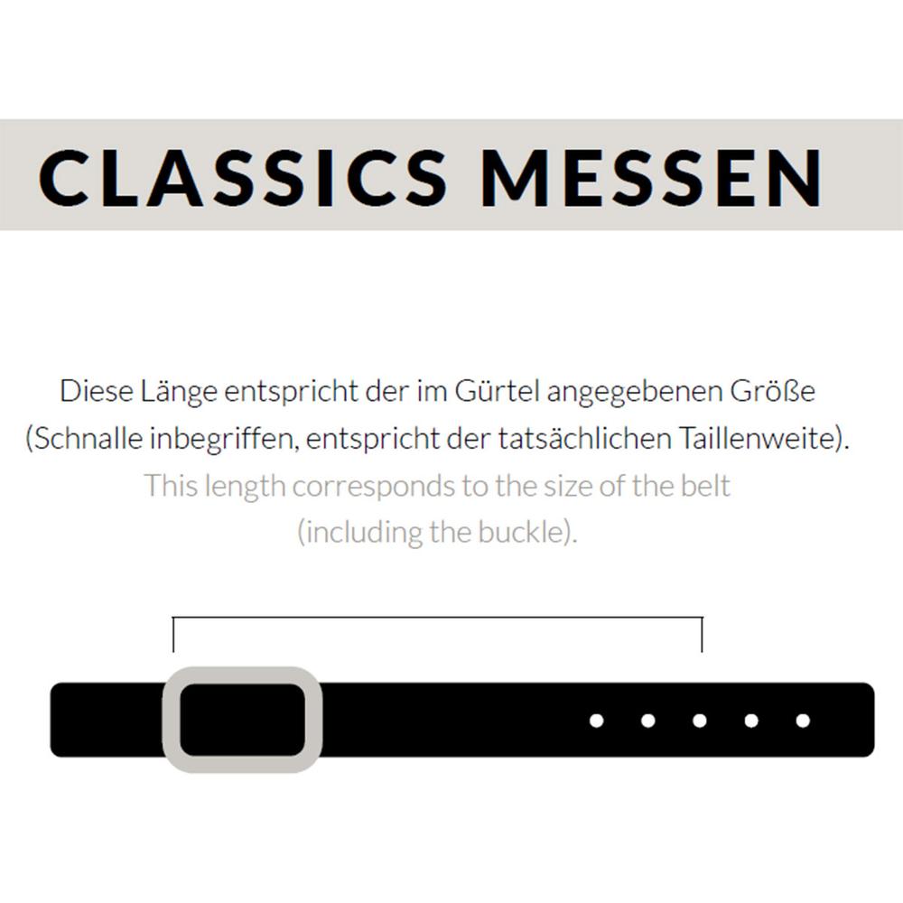 Luca Kayz Damen-Ledergürtel Classic Business CALVADOS gold 2.5cm Messing – Bild 3