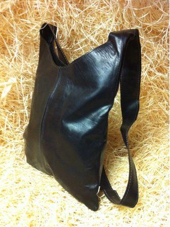 Oriental Leather Handbag Safa -  Dark Brown – image 4