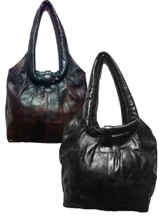 Moroccan Leather Handbag Fatin - Black – image 5