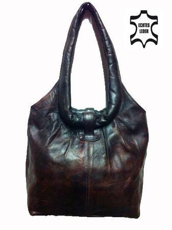 Moroccan Leather Handbag Fatin - Dark Brown – image 1