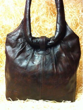 Moroccan Leather Handbag Fatin - Dark Brown – image 3