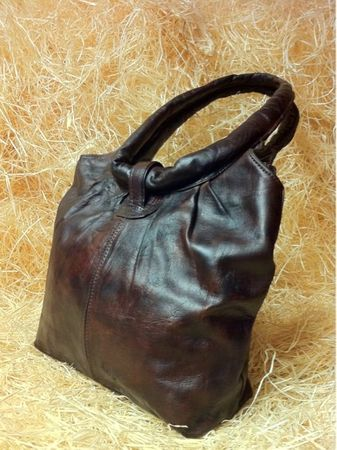Moroccan Leather Handbag Fatin - Dark Brown – image 4