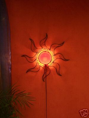 Wall Lamp Sonne red – image 2