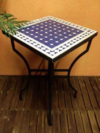 Mosaic Table Marrakesch Blue/ White, 50x50cm – image 1