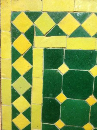 Mosaic Table Marrakesch Green/ Yellow, 50x50cm – image 2
